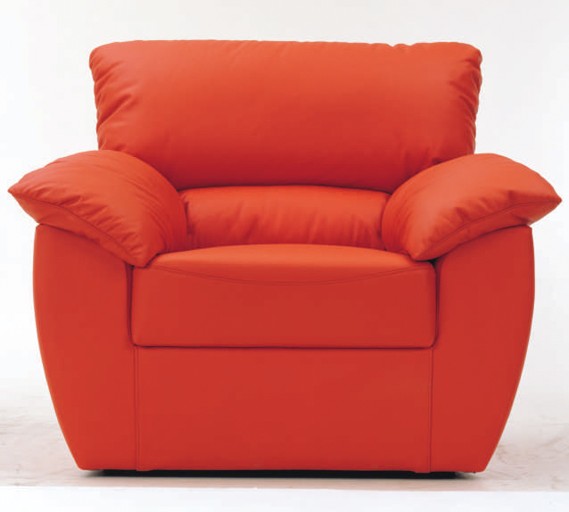 Red single soft sofa