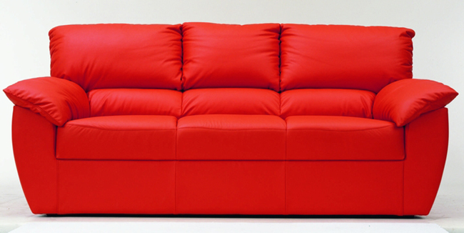 Soft sofa red people