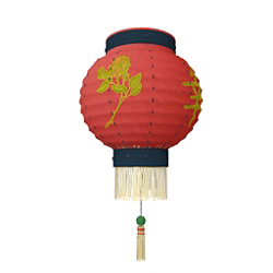 Chinese lantern droplight 3D models (including material)