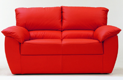 Red double soft sofa 3D models (including material)