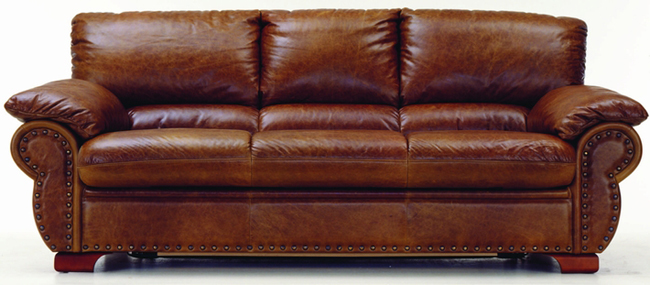 Many people cowhide villa receive a visitor sofa