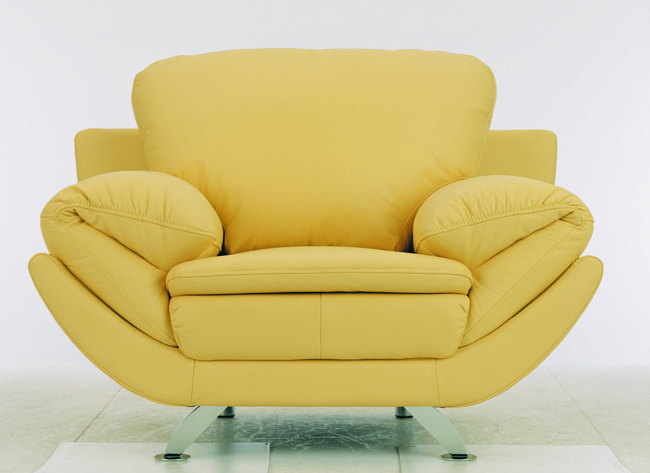 Fashion yellow single person sofa