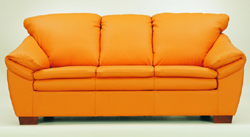 Orange multiplayer soft sofa 3D models