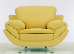 Fashion yellow single person sofa 3D models