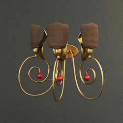 Metal earrings type wall lamp 3D models (including material)