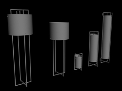 Five home floor lamp 3D models (including material)