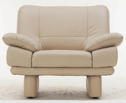 Coriaceous single soft sofa 3D models
