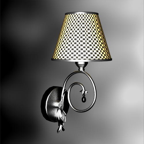 Garden Lamp 3d Model: Rural Style Grid Weave Wall Lamp 3D Models 3D Model