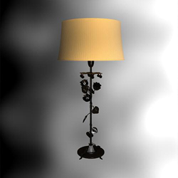 Household long pole intarsia desk lamp 3D models