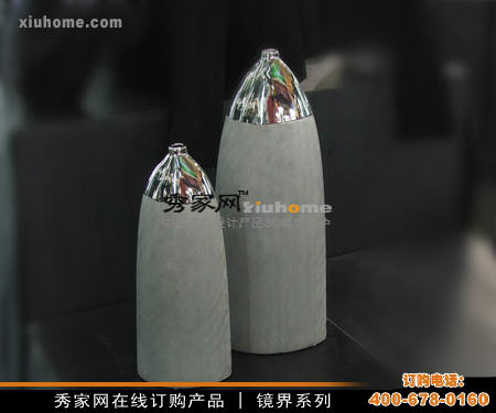 Stainless steel mirror bullet decoration