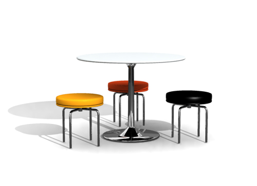 Personality circular eat desk and chair