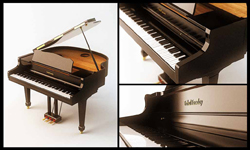 Arc type grand piano playing 3D models