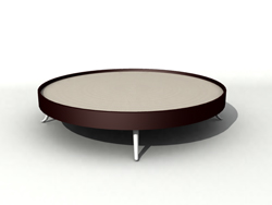 Rounded personality modelling tea table 3D models