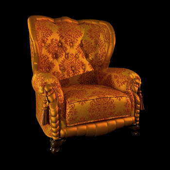 Russia single golden sofa chair