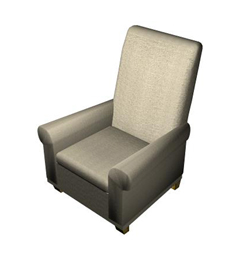 Traditional cloth art sofa chair single 3D models