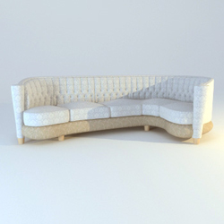 Many public sofa cloth art 3D models