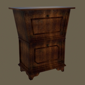 European solid wood cabinet two layers of restoring ancient ways
