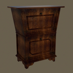 European solid wood cabinet two layers of restoring ancient ways 3D models