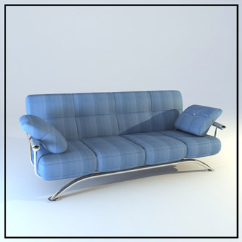 Blue fashion people sofa