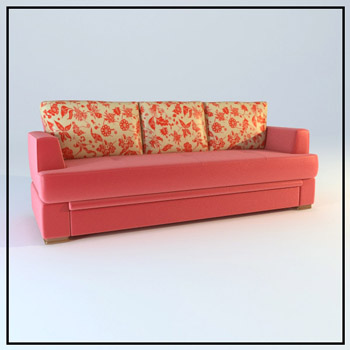 Double pink household soft sofa cloth art