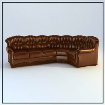 Brown leather sofa people