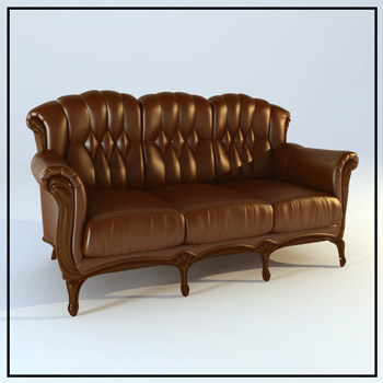 European leather seater sofas 3d models 3d model download for European leather sofa