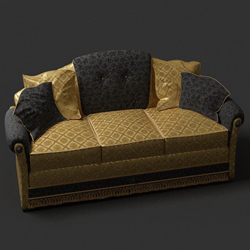 European luxury people sofa 3D models