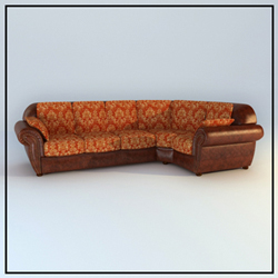 European people coriaceous sofa 3D models