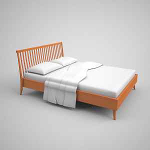 Contracted decayed wooden bed