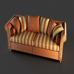 European leather sofa cushions household 3D models