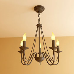 Continental Iron candlestick chandelier chains