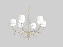 Elegant European-style iron chandelier white