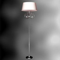 European single iron floor lamp