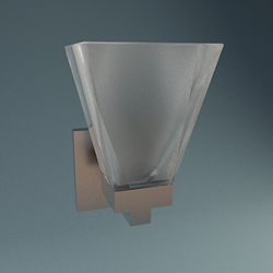 European personality transparent glass wall lamp