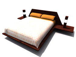 Modern and stylish traditional solid wood double bed