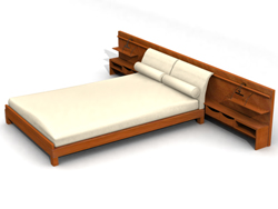 Modern traditional wood beds