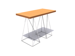 Chinese elegant small wooden long table