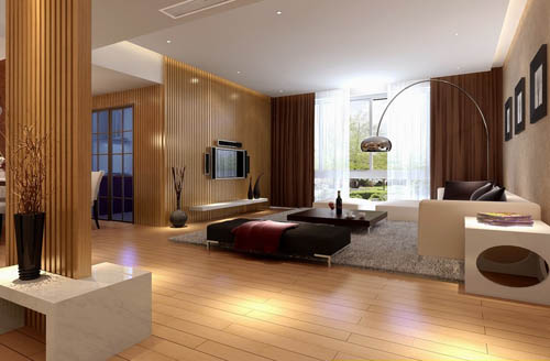 Bright and spacious living room design model 3d model for Model living room ideas
