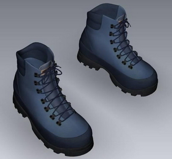 Blue hiking shoes model