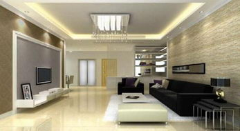 Simple and stylish living room model