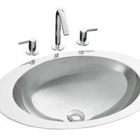 Beyaz lavabo temizleyin