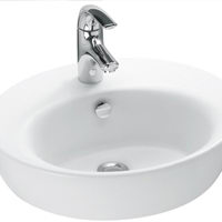 Taze beyaz lavabo