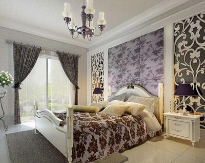 European-style bedroom model