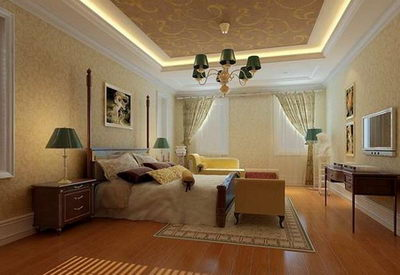 Gorgeous elegant bedroom model