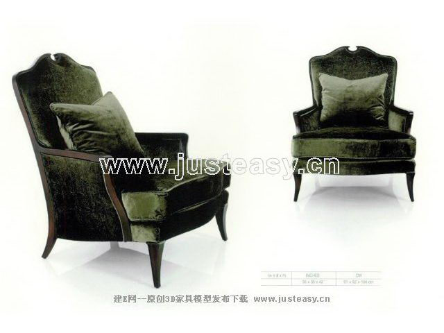 Black super soft sofa chair