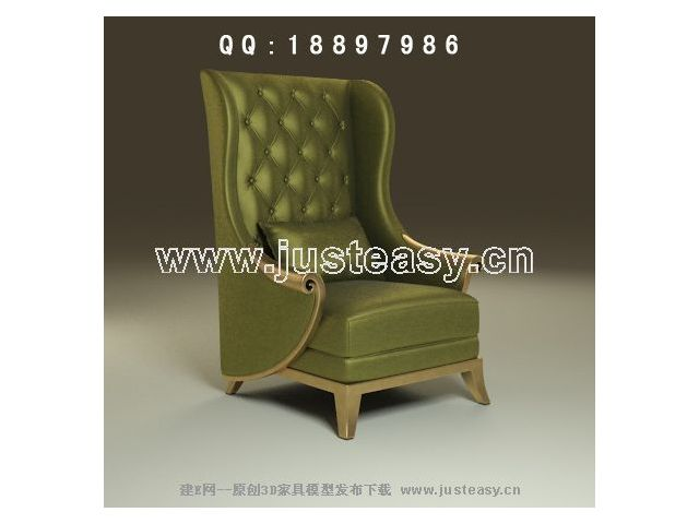 Green noble single sofa