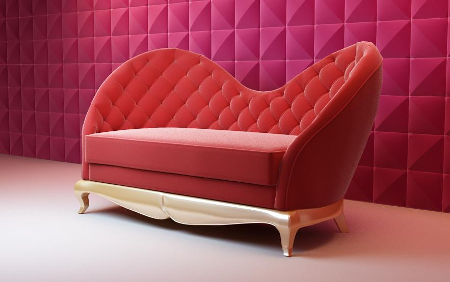 Big red sofa Bao Yang