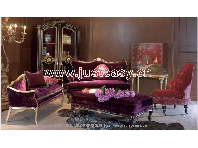 Combination of a low-key luxury sofa