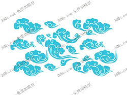 Blue clouds wallpaper pattern