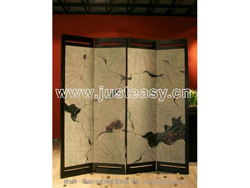 Classic wooden partition screen landscape